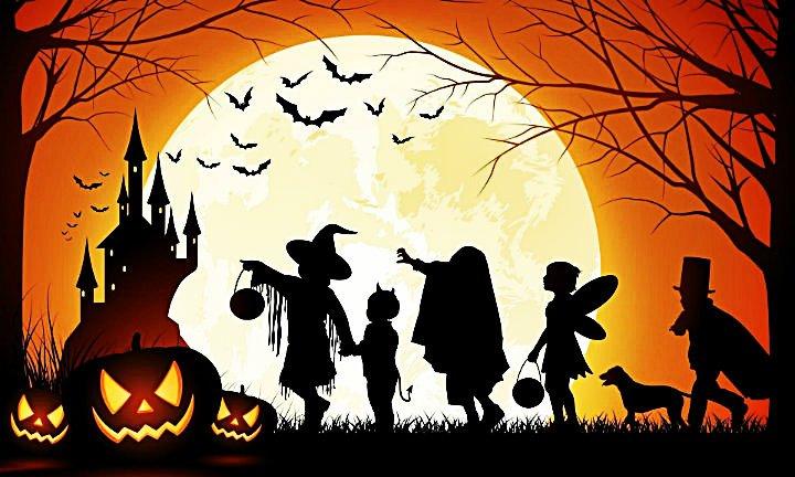 Las imágenes representativas del Halloween son las calabazas con rasgos humanos, las brujas, ...